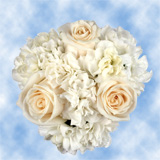 Wedding Flower Centerpiece with White Roses Carnations