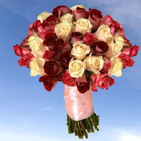Bridal Bouquet 36 Roses 3 Centerpieces Colors Your Choice