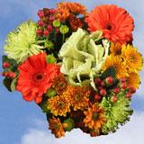 Fall Flowers Arrangement Hen 8 Bouquets