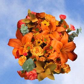 Arrangement Orange Fall Flowers 14 Bouquets