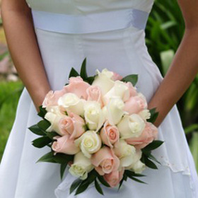 Order Royal Bridal Rose Bouquets With Light Pink And White Roses