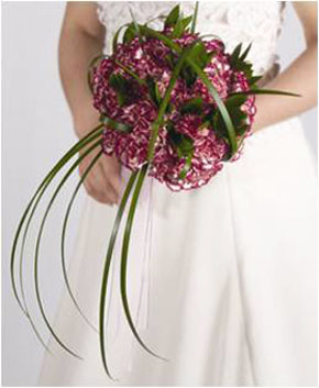 Bridal Bouquet Carnations 25 Stems