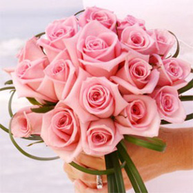 Order Romantic Bridal Rose Bouquets with Light Pink Roses ...