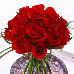 Wedding Table Centerpiece Romantic Red Roses 12 Centerpieces