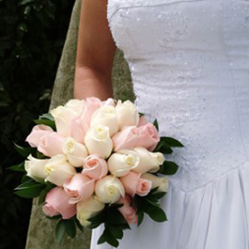 Bridal Bouquet Royal Light Pink & Ivory Roses