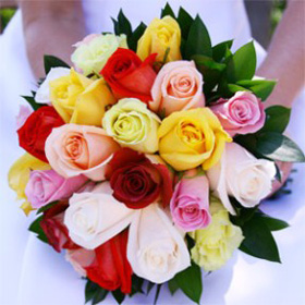 Bridal Bouquet Royal Assorted Color Roses
