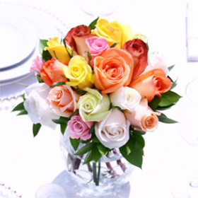 Wedding Table  Centerpiece Royal Assorted Roses 12 Centerpieces  Centerpieces