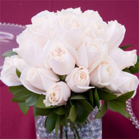 Wedding Table Centerpiece Royal Ivory Roses 12 Centerpieces