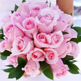 Bridal Bouquet Royal Light Pink Roses