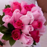 Bridal Bouquet Royal Dark Pink & Light Pink Roses