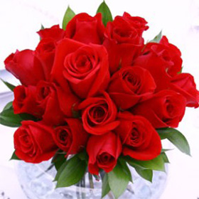 Wedding Table Centerpiece Royal Red Roses 12 Centerpieces