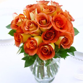 Wedding Table Centerpiece Royal Terracota Roses 6 Centerpieces