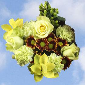 Arrangement Green Fall FLowers 17 Bouquets