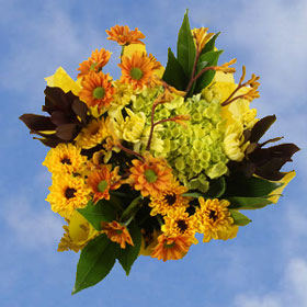 Arrangement Yellow Fall Flowers16 Bouquets